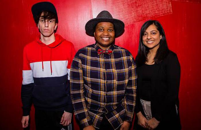 Ross Willis, Lettie Precious, Rabiah Hussain. Photo: Ali Wright