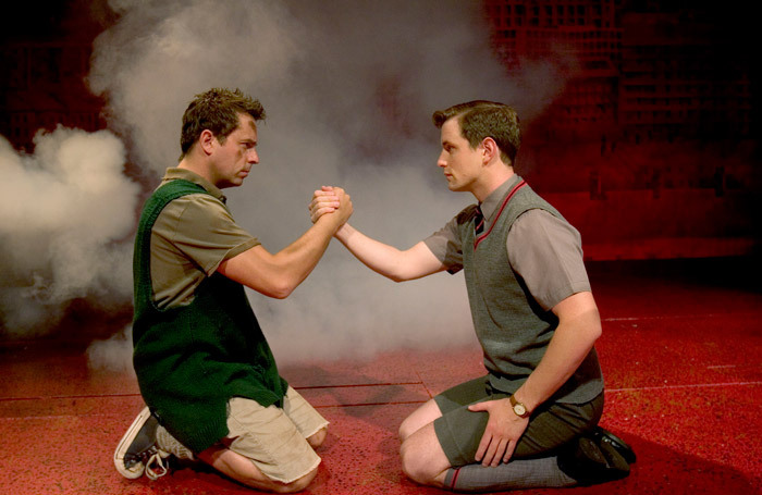 Sean Jones and Simon Willmont in a previous Bill Kenwright tour of Blood Brothers at Wyvern Theatre, Swindon, in 2017