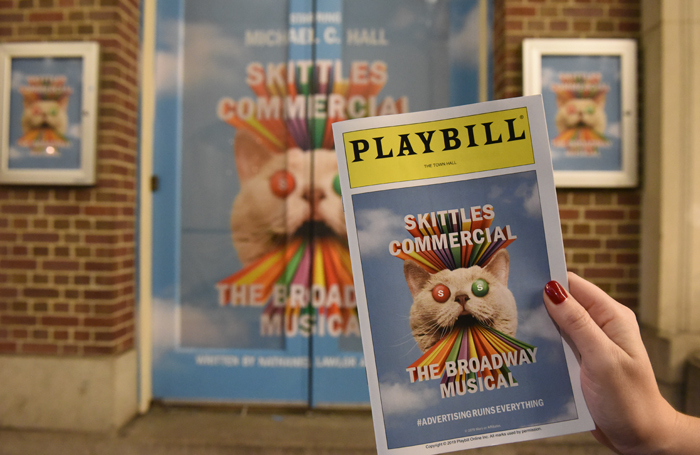 Skittles Commercial: The Broadway Musical played a one-off performance at New York's Town Hall