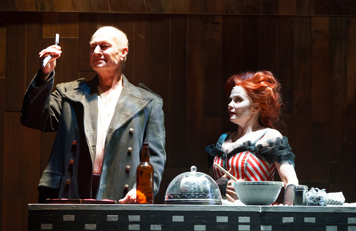 Steven Page and Julie Mullins in Sweeney Todd at Lyric Theatre, Belfast. Photo: Steffan Hill