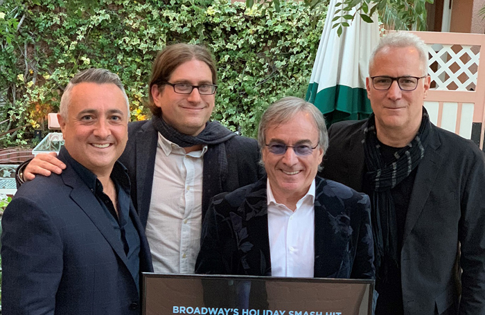 The Works executive producer Tim Lawson and creative producer Simon Painter with Cirque du Soleil's Daniel Lamarre and Louis-Francois Hogue