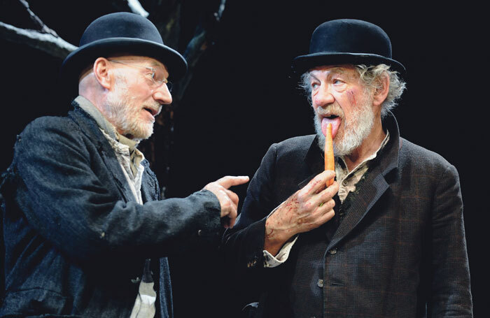 Patrick Stewart and Ian McKellen in Waiting for Godot – while Stewart trained at drama school, McKellen acted at university before joining regional rep. Photo: Tristram Kenton