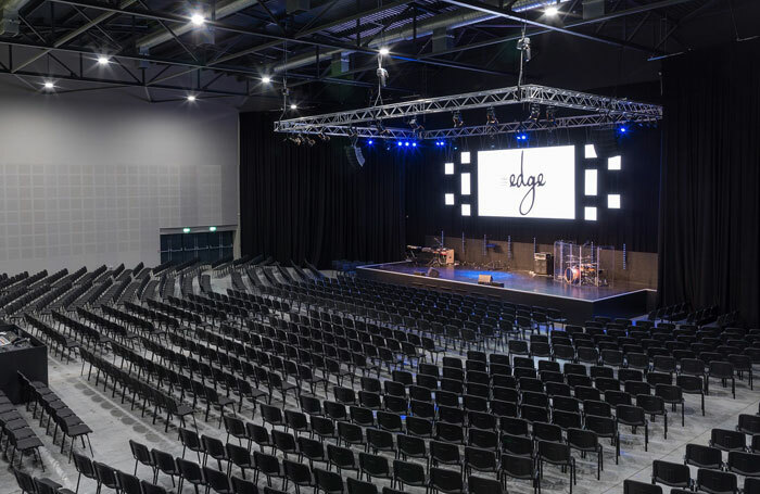 Main auditorium of the Edge, Wigan's new, 1,000-seat venue. Photo: Will Fisher