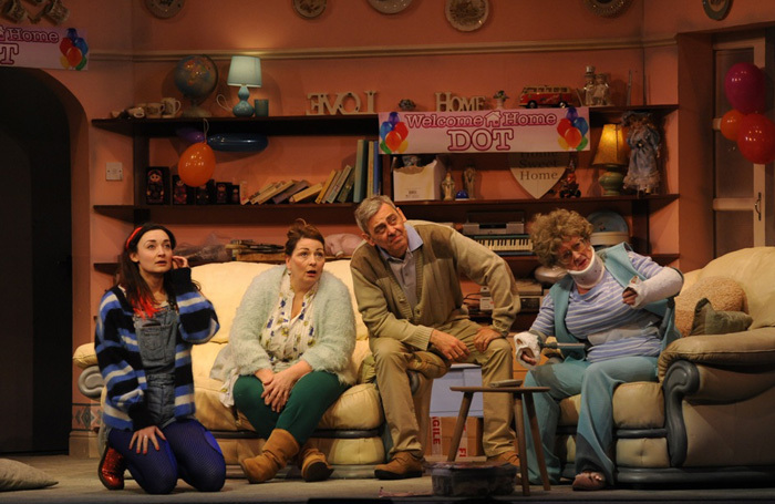 The cast of Yellow Breck Road at Royal Court, Liverpool
