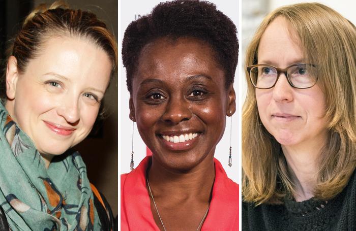 Playwright Laura Wade, Natasha Gordon and Anne Washburn. Photos: Helen Murray/Alex Brenner/Marc Brenner