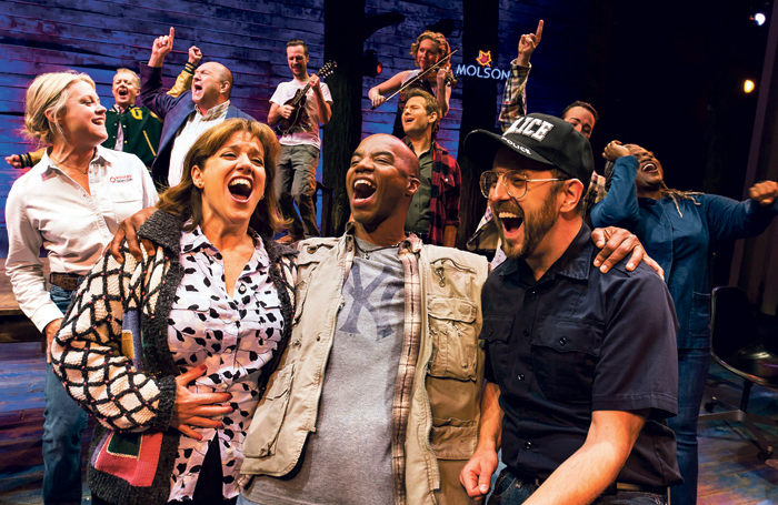 The Broadway cast of Come From Away (2016). Photo: Matthew Murphy