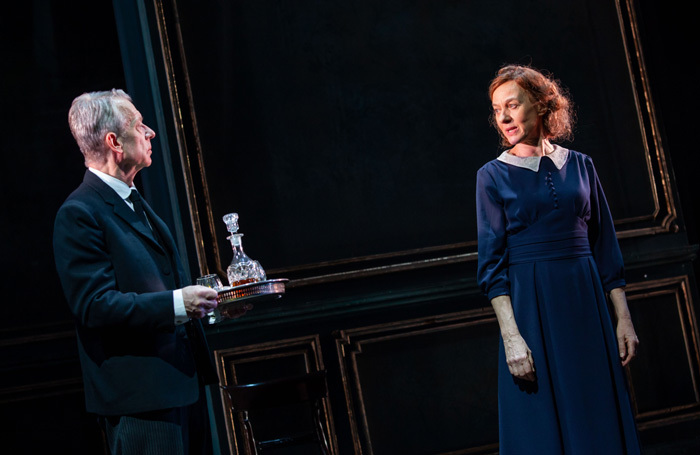 Stephen Boxer and Niamh Cusack in The Remains of the Day at Royal and Derngate, Northampton. Photo: Iona Firouzabadi