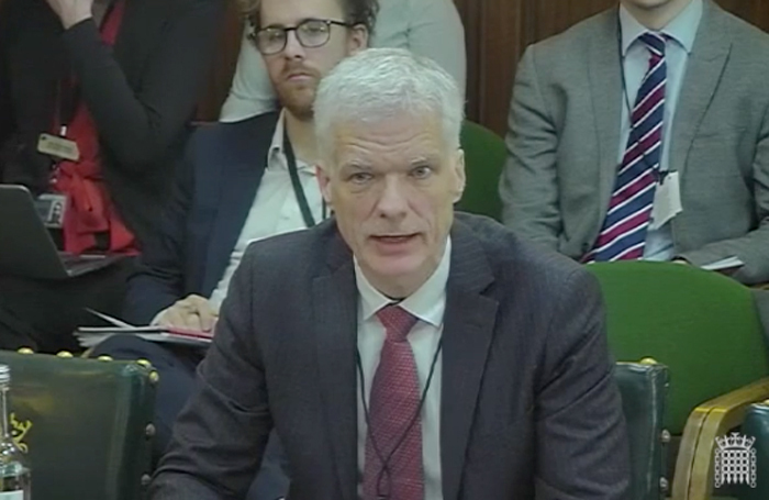 Andreas Schleicher giving evidence to the Education Select Committee