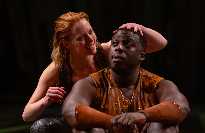 Lucy Phelps and David Ajao in As You Like It at the Royal Shakespeare Theatre. Photo: Topher McGrillis