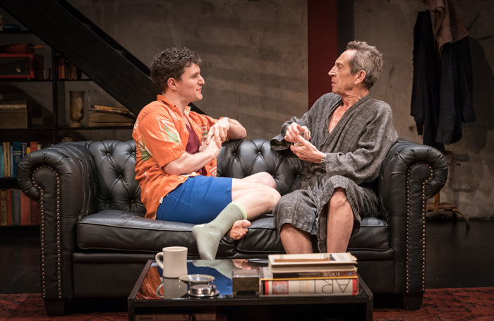 Ben Allen and Jonathan Hyde in Gently Down the Stream at Park Theatre, London. Photo: Marc Brenner