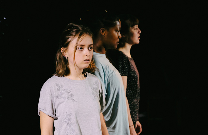 The cast of Bottled, one of the productions by emerging artists at the Vault Festival, London. Photo: Slav Kirichok
