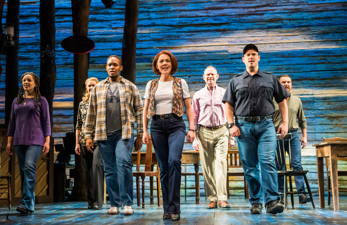 The cast of Come From Away at Phoenix Theatre, London. Photo: Tristram Kenton