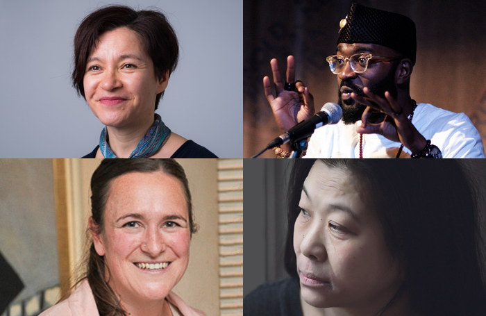 Signatories to the letter include, clockwise from top left: Kumiko Mendl, Inua Ellams, Lucy Sheen and Morgan Lloyd Malcolm. Photos: Suki Mok/Oliver Holms/Sarah Lam
