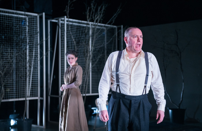 Amy Kennedy and Barrie Hunter in All My Sons at Dundee Rep Theatre. Photo: Tommy Ga Ken Wan