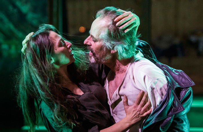 Pia Tjelta and Oystein Roger in The Lady from the Sea at Print Room at the Coronet, London. Photo: Tristram Kenton