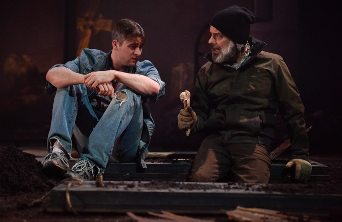 Liam Heslin and John O'Dowd in A Skull in Connemara at Oldham Coliseum Theatre
