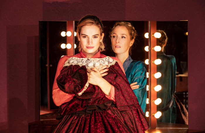 Lily James and Gillian Anderson in All About Eve at the Noel Coward Theatre. Photo: Jan Versweyveld