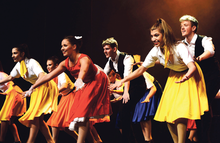 Liverpool Theatre School students performing. Photo: Barrie F Mills