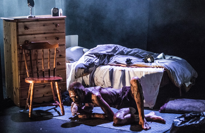 Adam Lloyd-James in Metamorphosis at Old Rep Theatre, Birmingham. Photo: Joe Samuels