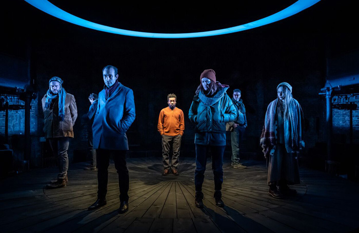 The cast of Shipwreck at the Almeida Theatre, London. Photo: Marc Brenner
