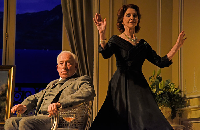 Simon Callow and Jane Asher in A Song at Twilight at Theatre Royal Bath. Photo: Nobby Clark