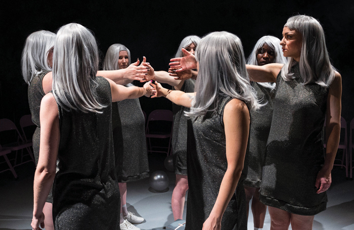 Performers in Smack That (a conversation) at Harlow Playhouse earlier this month. Photo: Foteini Christofilopoulou
