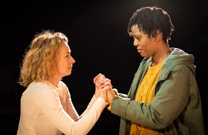 Ellie Piercy and Bianca Stephens in Soft Animals at Soho Theatre, London. Photo: Helen Maybanks