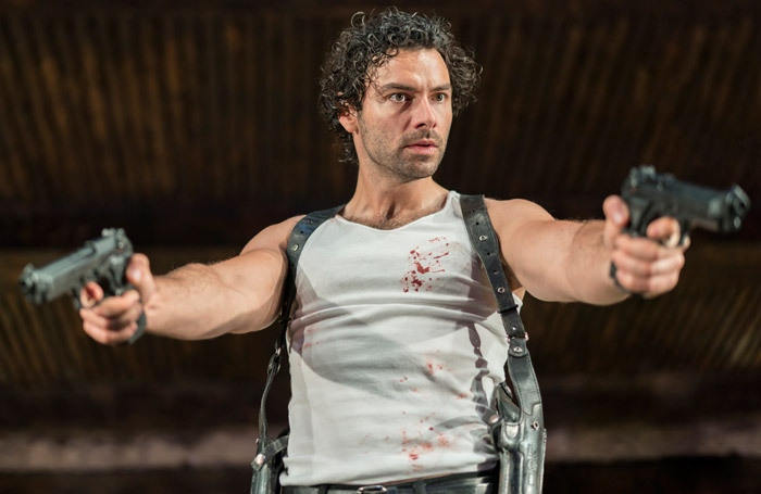 Aidan Turner in The Lieutenant of Inishmore at the Noel Coward Theatre. Photo: Johan Persson