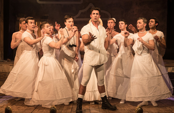 The cast of The Pirates of Penzance at Wilton's Music Hall, London. Photo: Scott Rylander