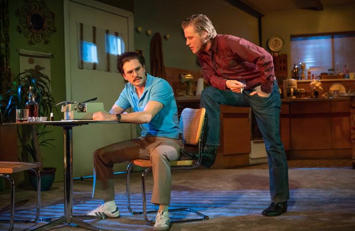 Kit Harington and Johnny Flynn in True West at Vaudeville Theatre, London. Photo: Marc Brenner
