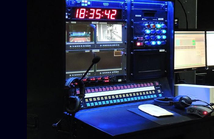 Stage manager's prompt desk
