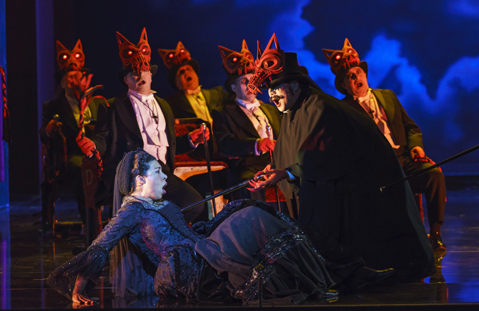 The cast of the WelsH National Opera production of Un Ballo in Maschera. Photo: Bill Cooper