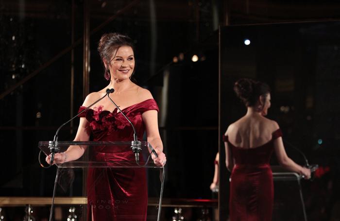 Catherine Zeta-Jones announced the RWCMD scholarship at a gala on March 1. Photo: Dan Callister