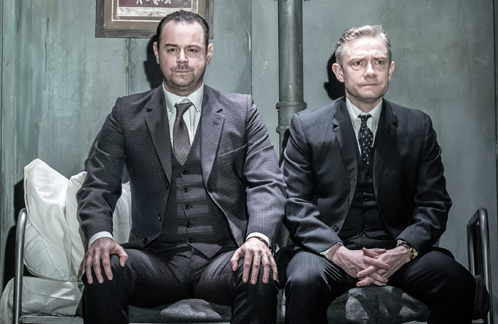 Martin Freeman and Danny Dyer in The Dumb Waiter. Photo: Marc Brenner