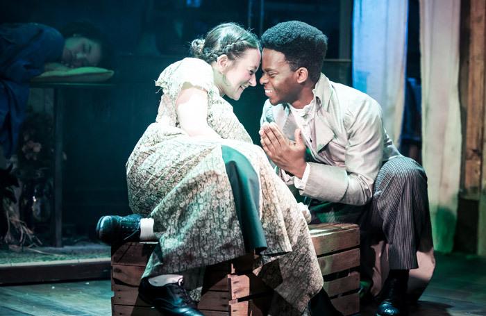 Sophie Stone and Tyrone Huntley in A Midsummer Night's Dream at Watermill Theatre, Newbury. Photo: Scott Rylander