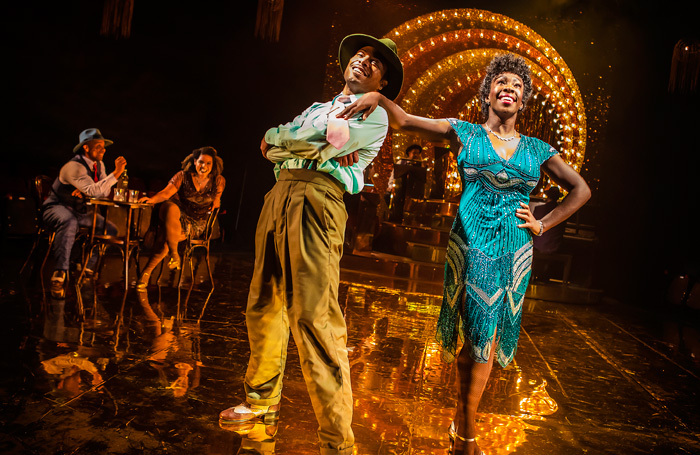 Wayne Robinson and Carly Mercedes Dyer  in Aint Misbehavin' at Mercury Theatre, Colchester. Photo: Pamela Raith