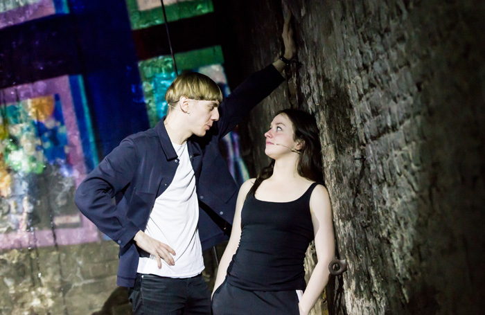 Joshua James and Rosie Sheehy in Anna X at the Vaults, London