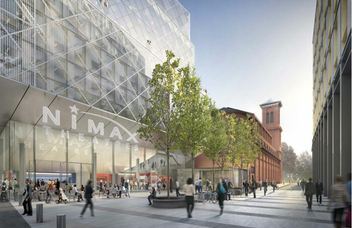 Artist's impression of Nimax's new theatre, which will be located above the Tottenham Court Road Crossrail Station. Photo: Derwent London