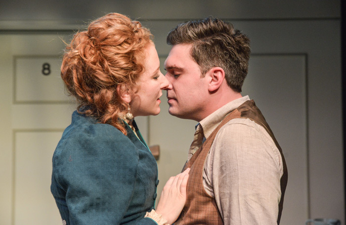 Dorothea Myer-Bennett and James Sheldon in Creditors at Theatre by the Lake. Photo: Robert Day