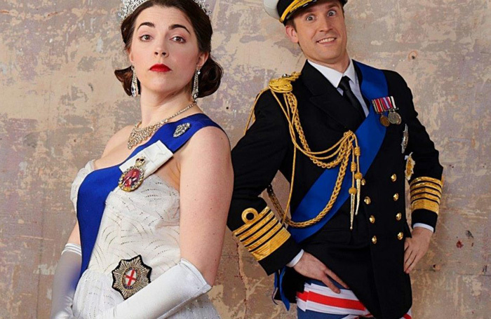 Rosie Holt and Brendan Murphy in The Crown Dual at the KIng's Head Theatre, London
