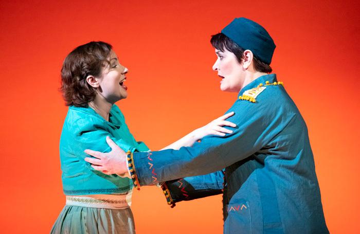 Galina Averina and Catherine Carby in Idomeneo at Hackney Empire. Photo: Richard Hubert Smith