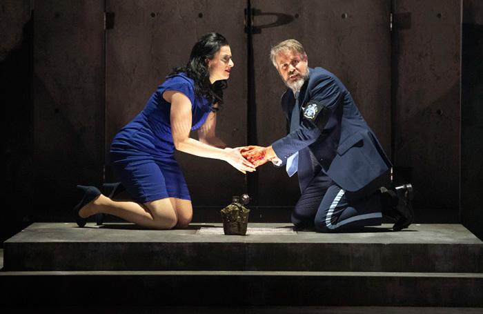 Madeleine Pierard and Grant Doyle in English Touring Opera's Macbeth. Photo: Richard Hubert Smith