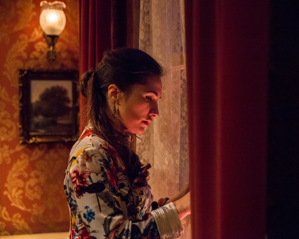 Charlotte Brimble in Gaslight at the Mill at Sonning. Photo: Andreas Lambis