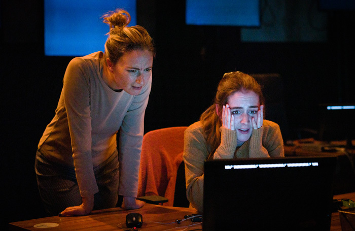 Lizzy Watts and Laura Waldren in God of Chaos at Theatre Royal Plymouth. Photo: Steve Tanner