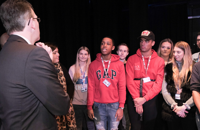 Jeremy Wright visited the Brit School on March 20