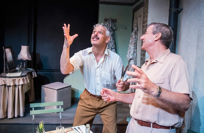 David Rubin and Dawid Minnaar in A Lesson from Aloes at Finborough Theatre. Photo: Tristram Kenton