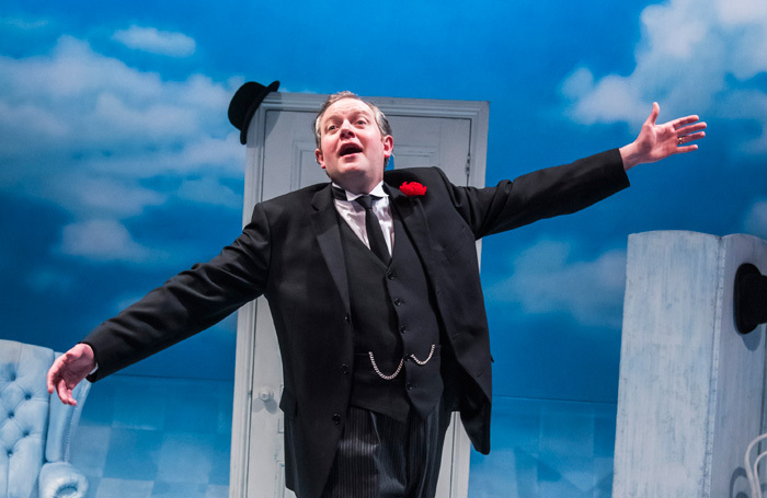 Miles Jupp in The Life I Lead at Park Theatre, London. Photo: Tristram Kenton