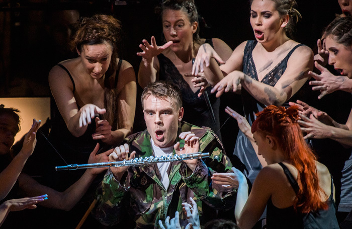The cast of The Magic Flute at London Coliseum. Photo: Tristram Kenton