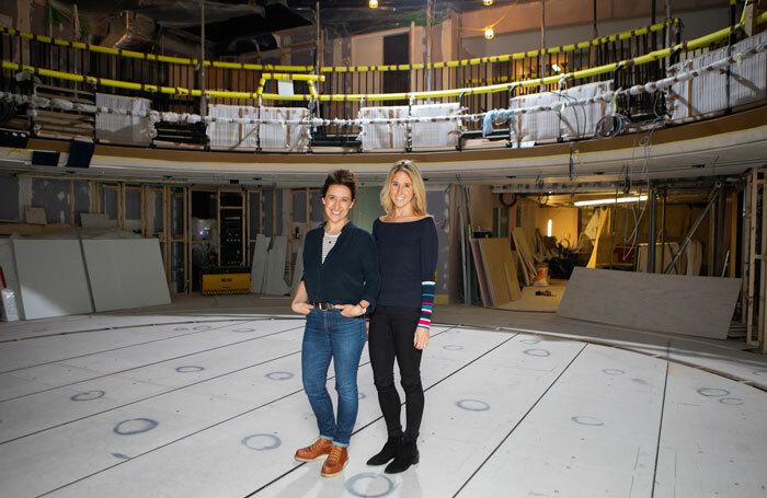 Rachel Edwards and Fawn James at the Boulevard Theatre. Photo: Ellie Kurttz