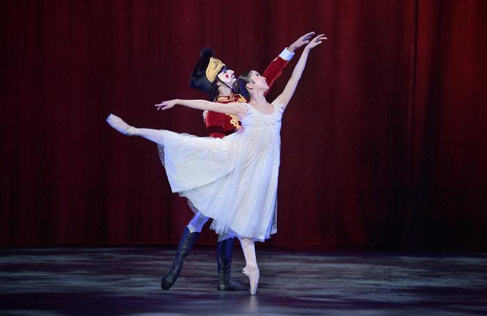 Rina Kanehara and Fernando Carratala Coloma in English National Ballet's Nutcracker at London Coliseum. Photo: Laurent Liotardo